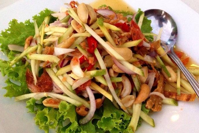 вьетнамский салат с зеленым манго фото